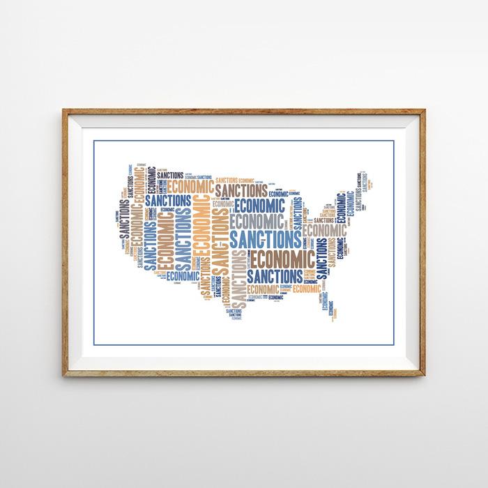 画像1: USA MAP 地図 ポスター (1)