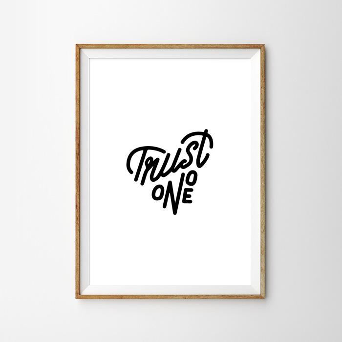 画像1: TRUST ONE モノトーン おしゃれポスター (1)