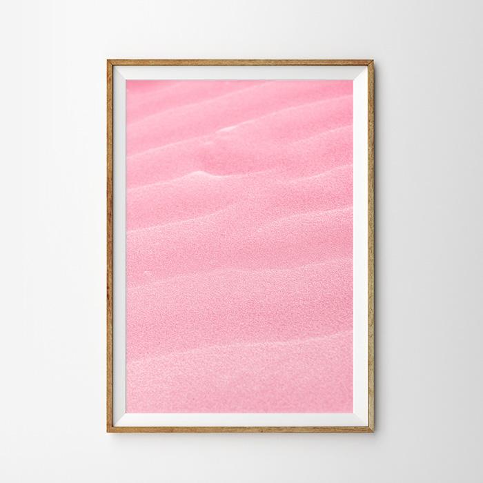 画像1: PINK DESERT ピンク砂漠地帯 砂浜 ポスター (1)