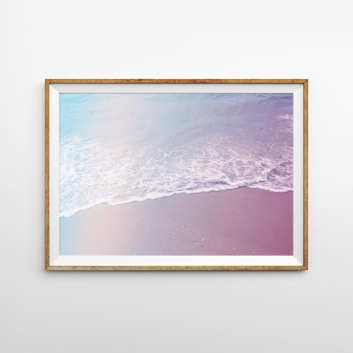 画像1: レインボーリフレクション ビーチサイド砂浜  ポスター (1)